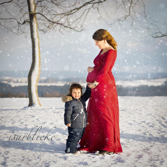 Babybauch Shooting Winter