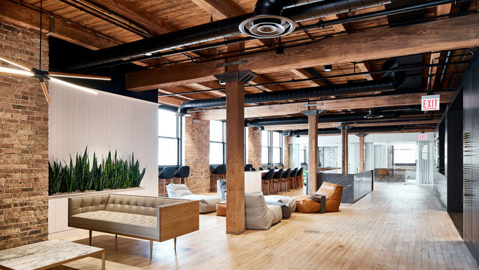 Интерьер офиса в стиле лофт