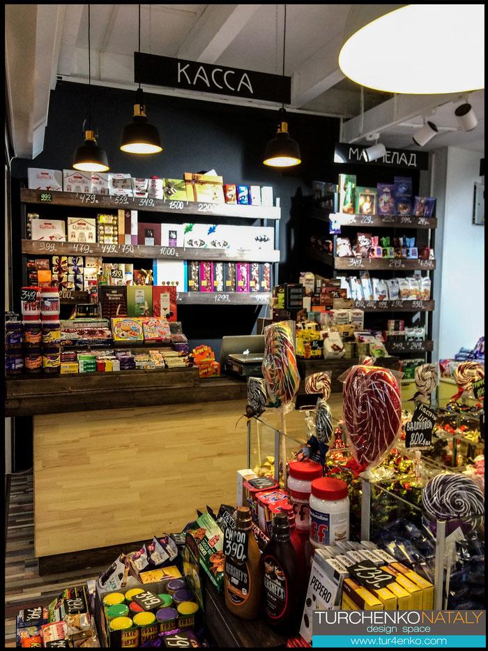6 Дизайн магазина сладостей  ДИЗАЙН ИНТЕРЬЕРОВ МОСКВА 89163172980