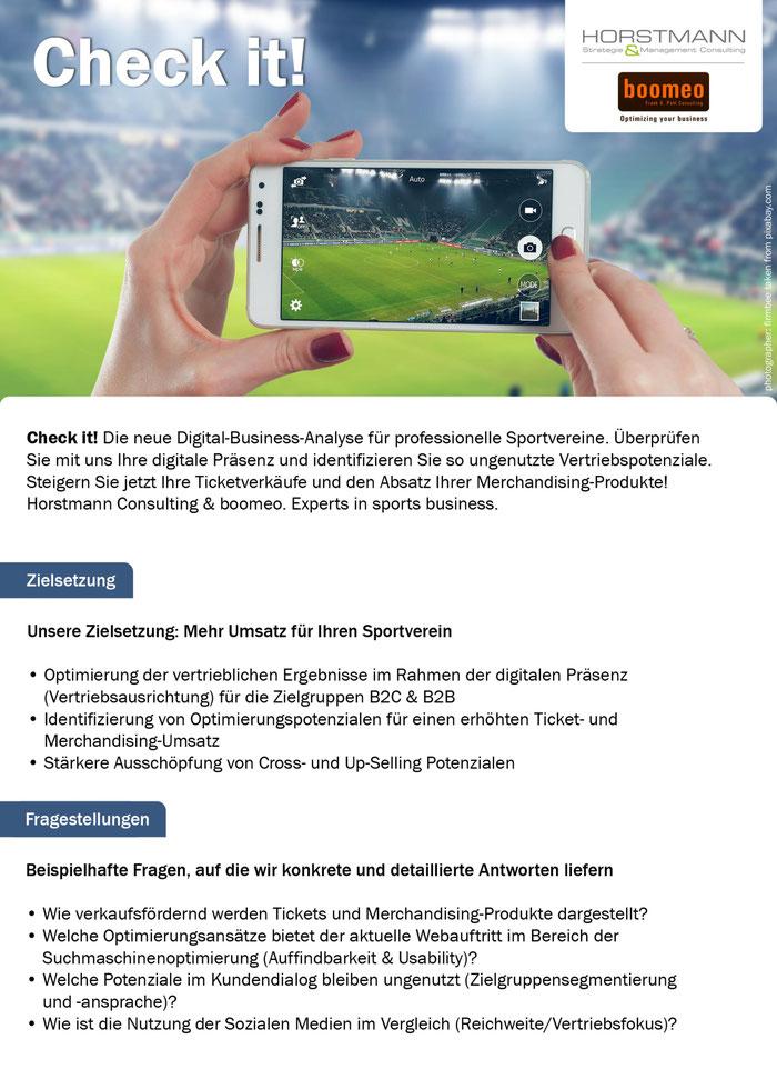 boomeo Business Check für Sportclubs & Sportvereine