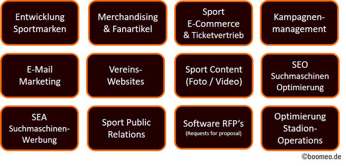 Sportmarken, Merchandising, Ticketvermarktung, Sport SEO, Sport SEA, Sport PR, Ticketsoftware, Stadion Operations