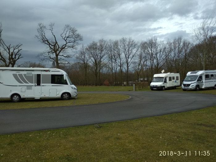 Die drei Fahrzeuge unseres kleinen Treffens