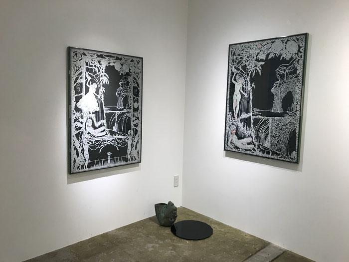 平面:駒形克哉 KOMAGATA Katsuya  彫刻:北辻良央 KITATSUJI Yoshihisa  (c)+Y Gallery