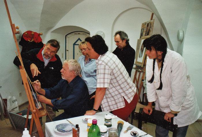 Hanno Karlhuber: Malkurs auf der Malakademie Goldegg