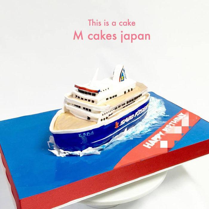 #ときわ丸 #佐渡 #船 #フェリー #船ケーキ #fondantcake #日本 #japan #sado