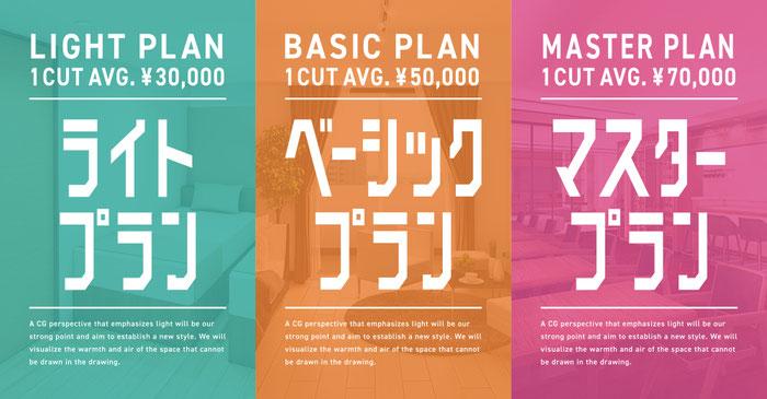 予算に合った最適なプランをご提案。選べる3つのプランはこちら。