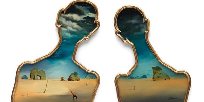 Пара с головами, полными облаков - стоимость картин Сальвадора Дали