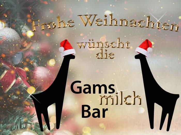Die Gamsmilchbar wünscht frohe Weihnachten