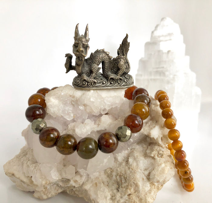Schmuck, Armband, Tiger and Dragon, Meditation, Resonanz-Prinzip, Anima Aurea, Esoterik, Chakren, Stärke, Affirmationen,