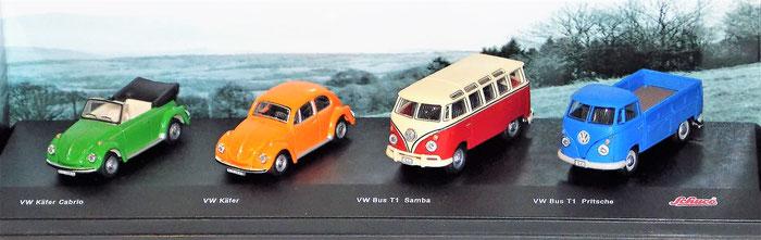 VW Käfer, VW Bulli T1, Schuco 1 : 72