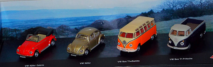 4er Set Schuco VW Bulli & VW Käfer 1:72