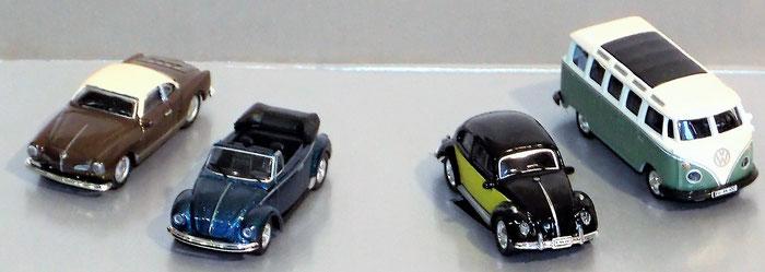 Schuco, VW Ghia, VW Käfer, VW Bulli