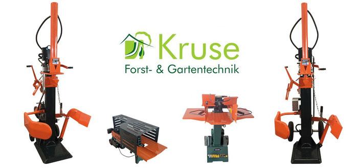 Kruse Gartentechnik in Petershagen, Brennholzspalter, Holzspalter für jeden Einsatz.