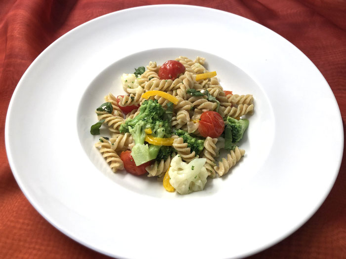 Vollkorn-Fusilli mit Gemüse