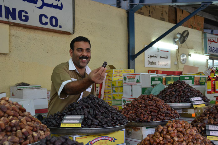 Dattel-Verkäufer in Dubai