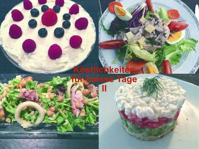 Köstlichkeiten für heiße Tage