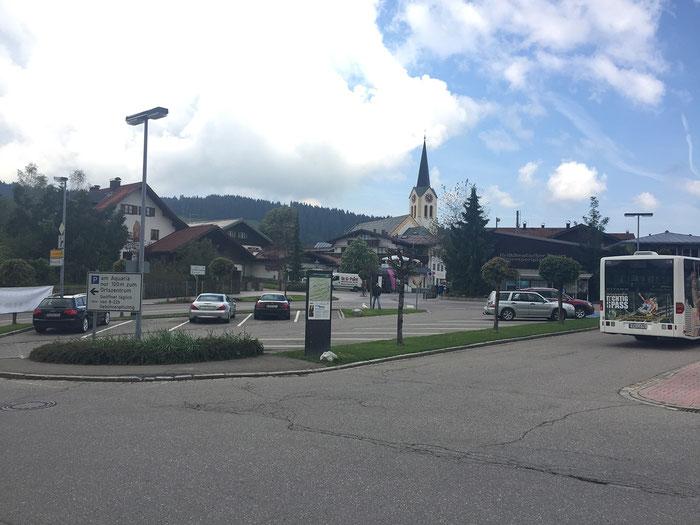 Die Ortschaft Oberstaufen