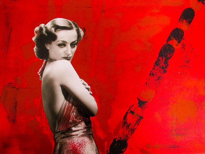 """""""Phalling Woman"""", 2018. Acryl, Papier auf Mischtechnik-Papier. 42x29,7 cm."""