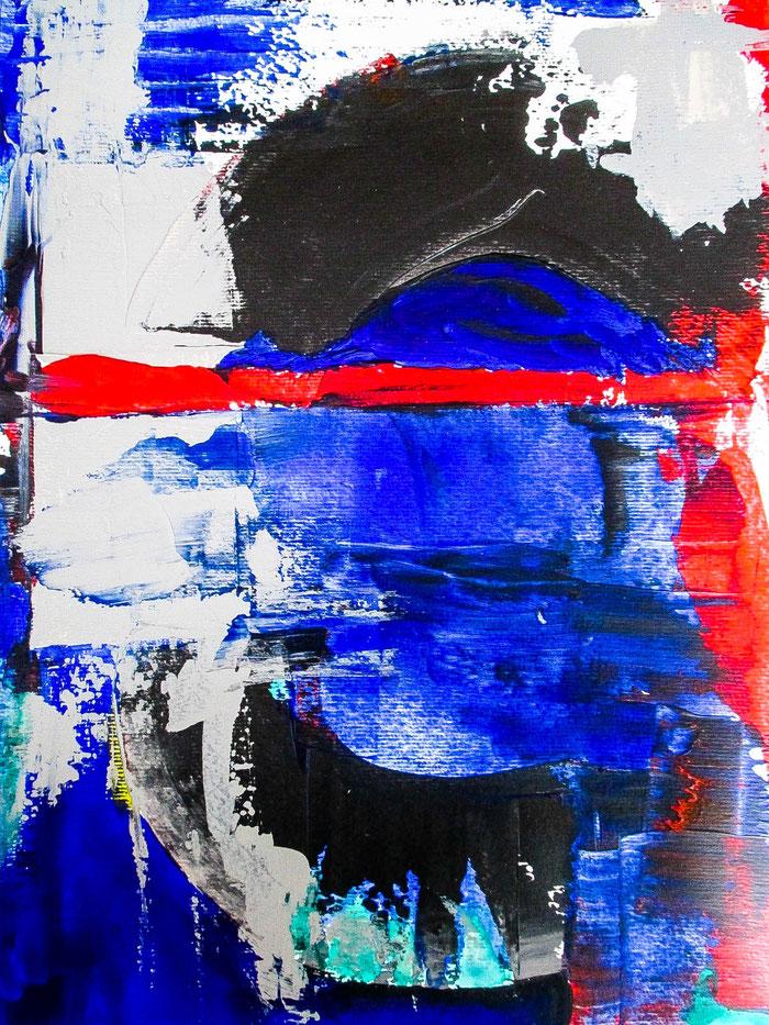 """Glitch Project-2018"", 2018. Acryl auf Mischtechnik-Papier. 29,5x40,5 cm."