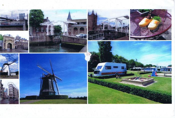 Postkarte von Frau und Herr K. aus den schönen Niederlanden