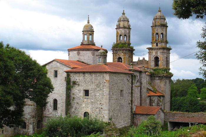 """Schöner, alter Kloster """"Sobrado Dos Monxes"""" gegründet im 10 J.h. durch Benediktiner bietet Unterkunft für Pilgern."""