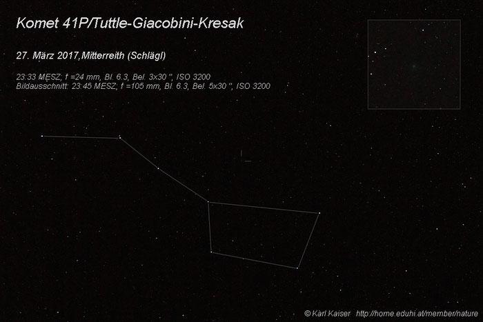 Komet 41P/Tuttle-Giacobini-Kresak; Mitterreith (Schlägl), 2017 03 27