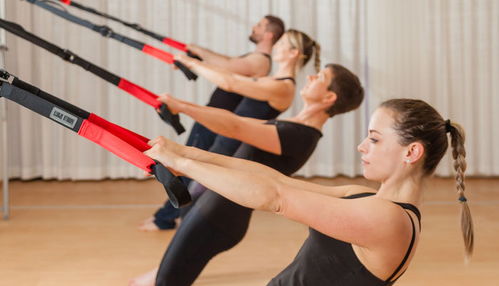 Pilates und TRX-Training kombiniert