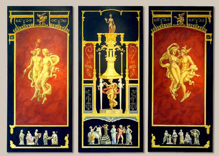 Triptychon im römisch-pompejianischen Stil,  mit freundlicher Genehmigung von Nik Golder