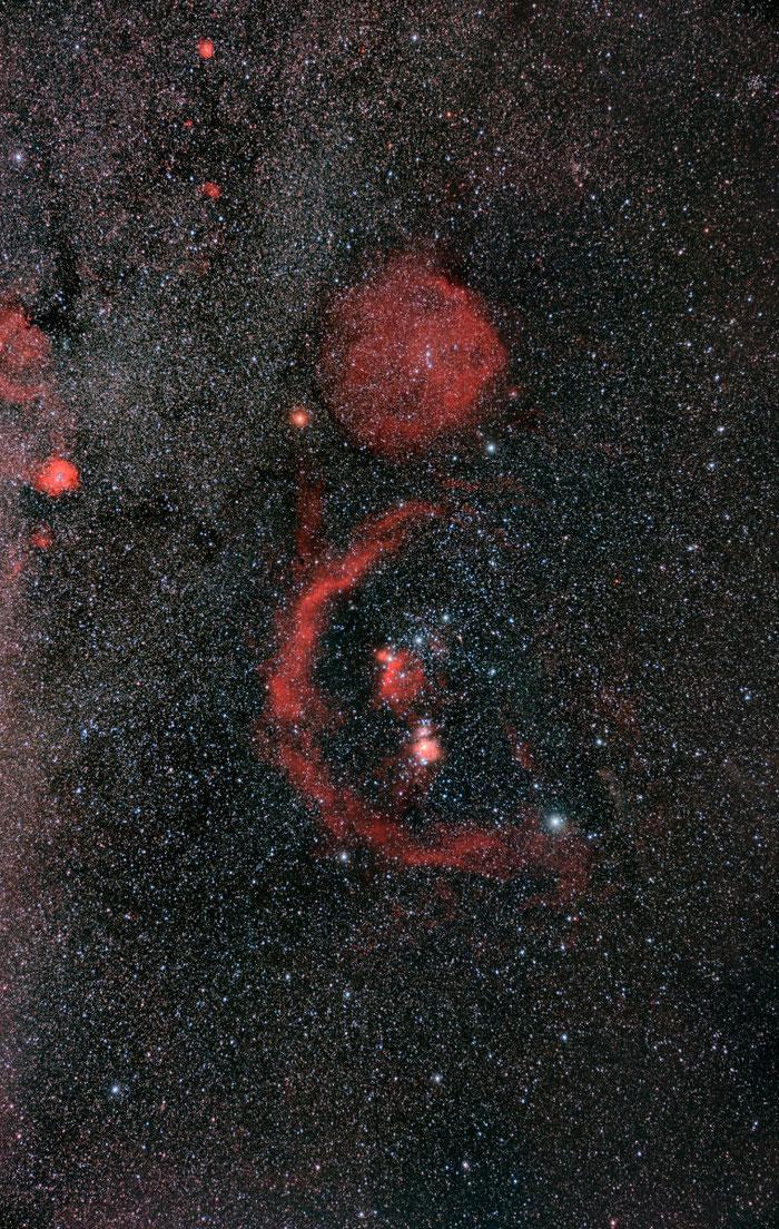 Sternbild Orion, Orionnebel, Pferdekopfnebel, Astrofotografie, Rosettennebel,
