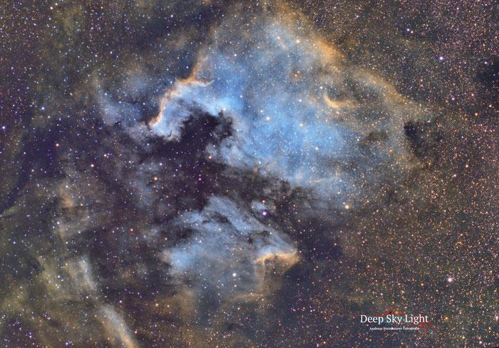 Astrofotografie, NGC 7000, Nordamerika Nebel, Schwan, Sternwarte,