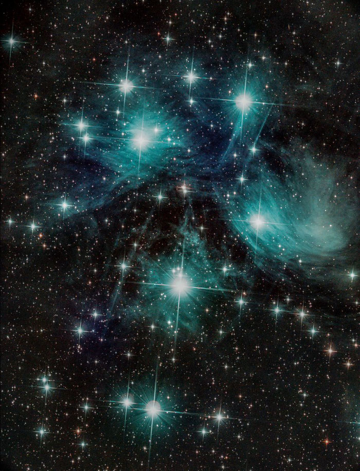 M45, Plejaden, Stier, Astrofotografie,