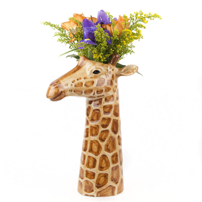 Blumenvase aus Keramik in Giraffendesign - von Quail Ceramics