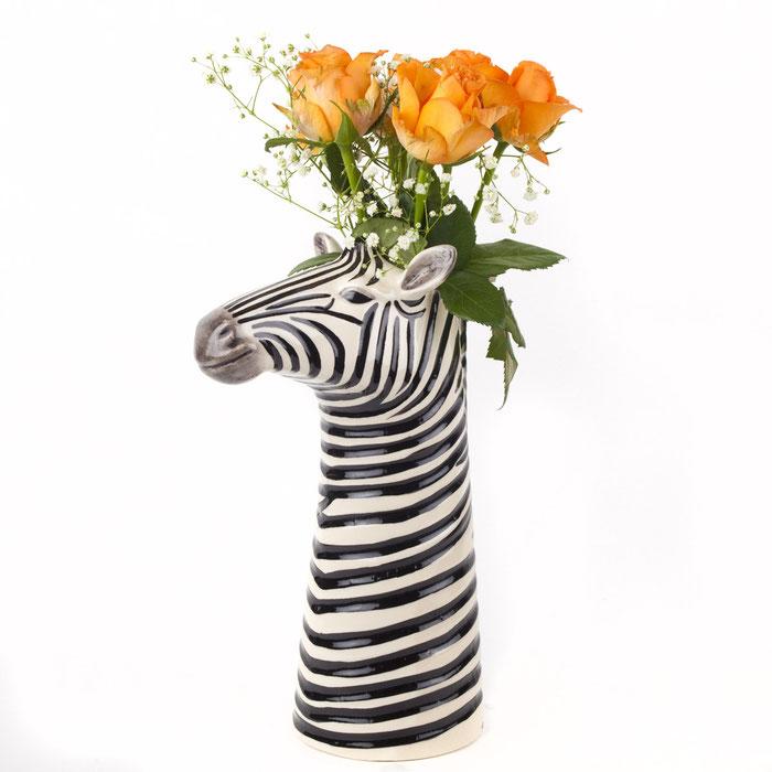 Blumenvase aus Keramik in Zebradesign - von Quail Ceramics