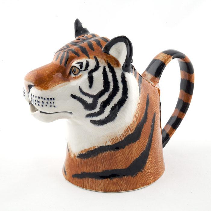 Kännchen aus Keramik im Tigerdesign - von Quail Ceramics