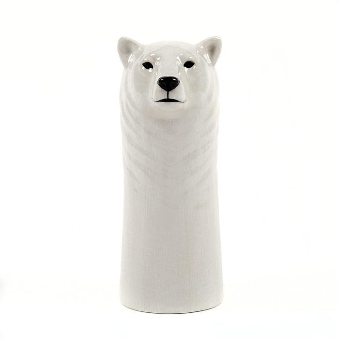 große Eisbärvase von Quail Ceramics
