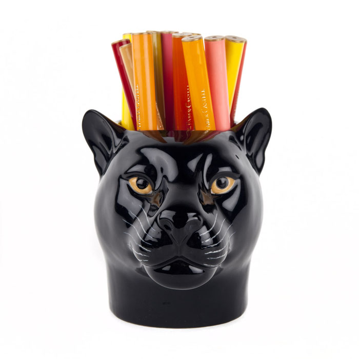 Becher aus Keramik im Pantherdesign - von Quail Ceramics