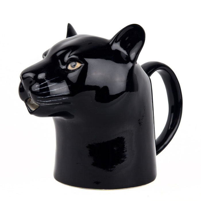 Kännchen aus Keramik im Pantherdesign - von Quail Ceramics