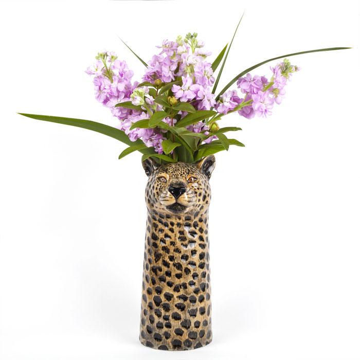 Blumenvase aus Keramik im Leopardendesign - von Quail Ceramics