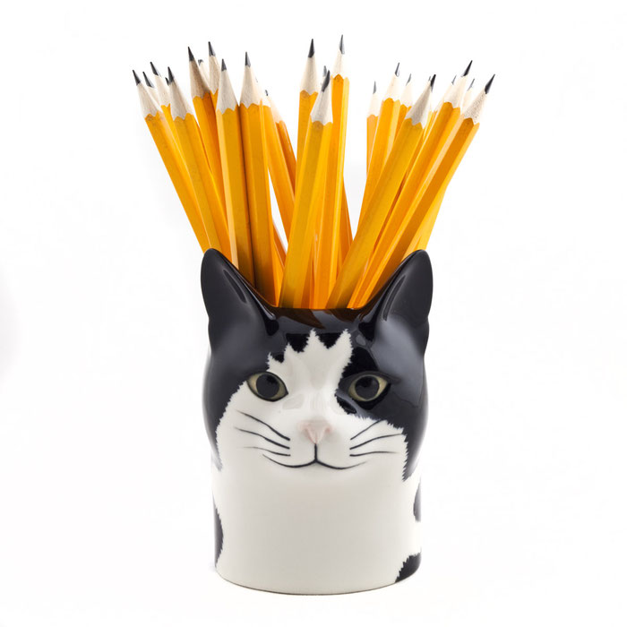 Becher aus Keramik in Katzendesign - von Quail Ceramics