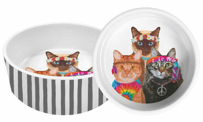 "Porzellanschale ""Groovy Cats"" von PPD - Paperproducts Design USA"