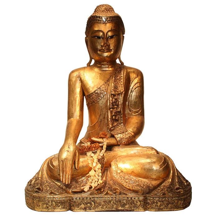 Schöne Holzbuddhas aus Thailand