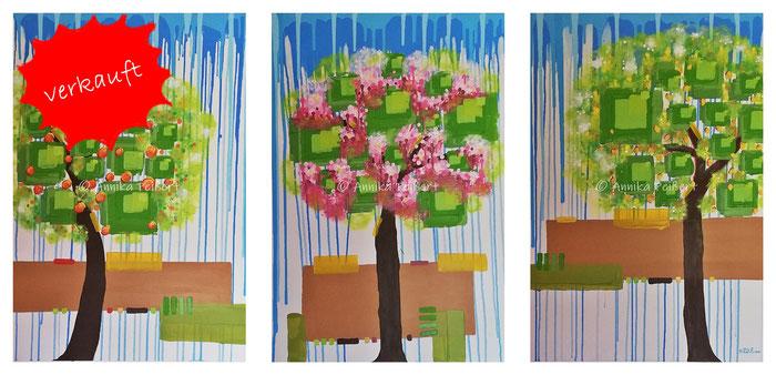 Acryl auf Keilrahmen, 3 Stück zu je 100 x 70 cm