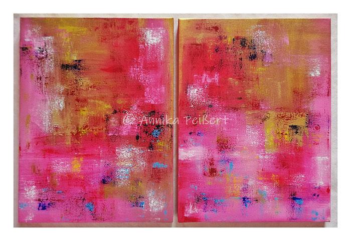 Acryl auf Leinwand/Keilrahmen, jeweils 40 x 30 cm