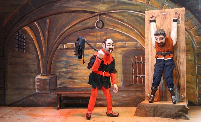 Marionettentheater Märchen an Fäden - Scheintod mit Folgen (nach Boccaccio, Dekameron) - Ruggieri im Kerker