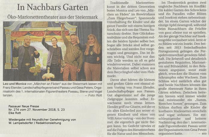 Passauer Neue Presse Nr. 274 vom 27.11.2018, S. 23