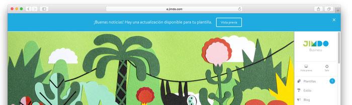 Actualización de una página web creada con Jimdo Creator a su versión con diseño responsive.