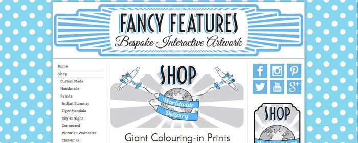 Ilustración como fondo de una tienda online.