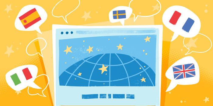 Con Jimdo es muy fácil desarrollar una página web multilingüe.