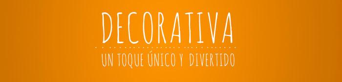 Una tipografía decorativa da un toque único y divertido a tu web.