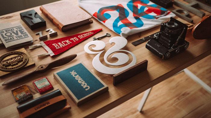 Ejemplos de tipografías variadas.